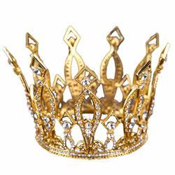 Olici Bridal Wedding prom Hair Pins headdress Accessories party girls Baroque Crown Round Round Queen Crown Crown Performance Decoration Photo Studio Accessories Silvery