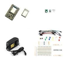 Kit Containing One Espruino MDBT42Q Breakout And One Sbitsnbytes USB Power Breadboard KM-EMDBTBB007