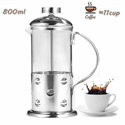Coffee Maker 350 600 800 Ml Stainless Steel Glass French Press Coffee Maker Coffee & Teapot With Filter Suitable For Coffee Tea Espresso Etc