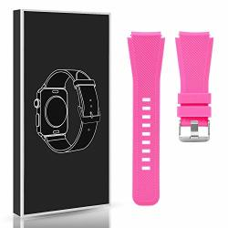 Diruite For Michael Kors Access Bradshaw Smart Watch 22MM Classic Silicone Band Strap For MKT5001 5004 5013 - Pink Permanent War