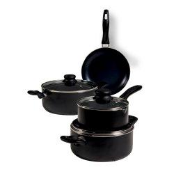 Mainstays - 7PC Aluminium Pot Set Black