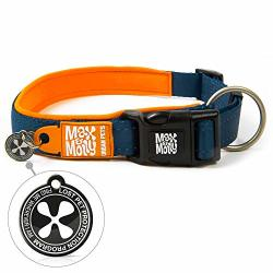 Max & Molly Ultra Comfortable Padded Neoprene Sport Dog Collar With Reflective Stitching And Smart Id Tag Matrix Orange S