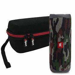 JBL Flip 5 Portable Speaker IPX7 Waterproof On-the-go Bundle With Gsport Deluxe Hardshell Case Green Camo