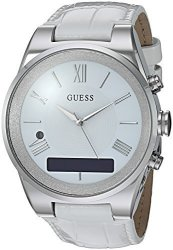 Guess Women&apos S Connect Smartwatch With Amazon Alexa And Genuine Leather Strap Buckle - Ios And Androi