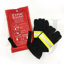 Inf-way Fire Blanket 70.9/'*70.9/'/' Fiberglass Fire Flame Retardent Emergency