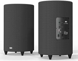 OSD Audio 400W Ported Cylinder Cabinetry Home Theater Subwoofer Nero TUBEBASS-10