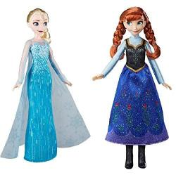Frozen Disney Classic Fashion Elsa Doll For Ages 3 And Up With Classic Fashion Anna Doll