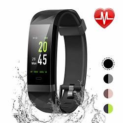 LETSCOM Fitness Tracker Color Screen IP68 Waterproof Activity Tracker With Heart Rate Monitor Sleep Monitor Step Counter Calorie Counter Smart Pedometer Watch For Men