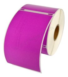 "HouseLabels 6 Rolls 300 Labels Per Roll Of Dymo-compatible 30256 Purple Large Shipping Labels 2-5 16"" X 4"" -- Bpa Free"