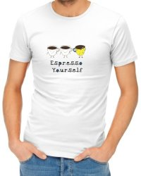 Espresso Yourself Mens T-Shirt - White Xxxx-large