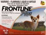 Frontline Plus For Small Dogs 0-10KG - 1 Pipette 0.10KG