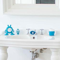 Prince Lionheart Eyefamily Berry Blue Toddler Bathroom Set Includes A 1 Minutetimer Cup Toothbrush & Toothpaste Holder Faucet Extender - Children's Bathroom Essential