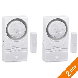 Onvian Door Window Alarm For Home Security Protection Anti-theft Burglar Alert 110 Db Magnetic Sensor Time Delay Alarm 2 Pack White