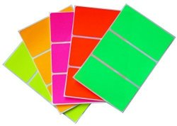 Royal Green Moving Sticker Color Code Labels In 5 Assorted Neon Colors 4 X 2 Labels 102 Mm X 51 Mm - 30 Pack By