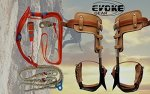 Evoke Gear Tree Climbing Spike Set Pole Climbing Spurs Climber Adjustable Harness Lanyard