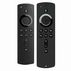 Yjydada For Amazon Fire Tv Stick 4K Tv Stick Remote Silicone Case Protective Cover Black