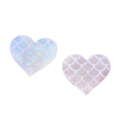 Up Tape Light Mermaid Heart 5 Pair Nipple Pastie Set