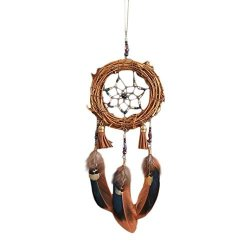 Jpoqw Handmade Dream Catcher Dorm Decoration Small Tree Vine Dream Catcher Wind Chime