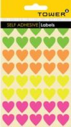 Tower Hearts Mixed Neon Labels