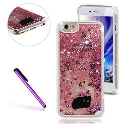 LEECOCO Iphone 5S Case Iphone Se Case Leeco Iphone 5 Case 3D Glitter Bling  Flowing Liquid Floating Moving Hard Protective Cover a92d4ddc625b