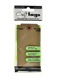 Notions - In Network Ranger ISC-31857 Inkssentials Surfaces Kraft Tag NO.5 Brown 20 PACK