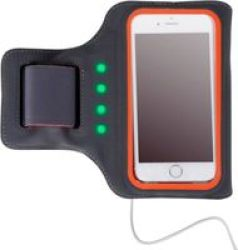Astrum AB550 LED Powered Mobile Sports Armband Grey|orange