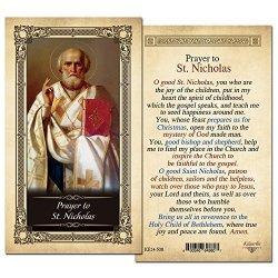 ShopCatholic St. Nicholas Holy Card - Pack Of 25- Laminated