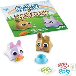 Learning Resources Coding Critters Pair A Pets Bunnies Fluffy & Buffy Early Stem Coding Toy Interactive Pet Children's Easter Basket Toy Ages 4+