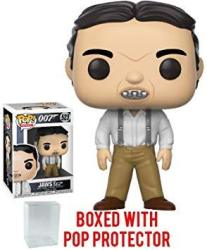"""USAB Funko Pop Movies: James Bond 007 - Jaws """"the Spy Who Loved Me"""" Vinyl Figure Bundled With Pop Box Protector Case"""
