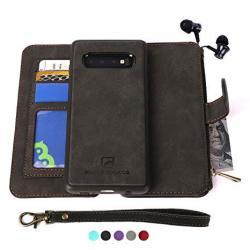 Modos Logicos Samsung Galaxy S9 Case Detachable Wallet Folio 2 In 1 Zipper Cash Storage Up To 14 Card Slots 1 Photo Window Pu Leather Purse Clutch