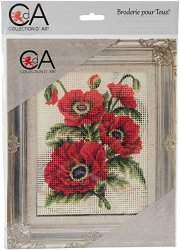 Collection D'art Stamped Needlepoint Kit 20X25CM-POPPIES