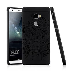"""Gukas Tpu Silicone Shell Bumper Case Cover For Huawei Mate S 5.5"""" Gel Protective Soft Scratch Resistant Fashion Perfect Fitted D"""