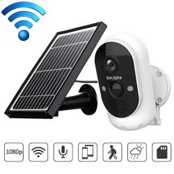 Eken Astro Solar Powered IP65 Waterproof 1080P Wireless Security Camera Support Motion Detection & Infrared Night Vision