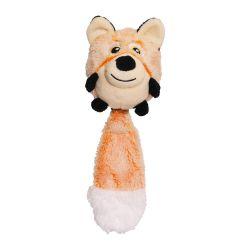 Rosewood Squeak Switch Fox Multi-activity Dog Toy