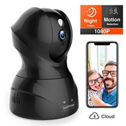 Security Camera 1080P Wifi Pet Camera - Kamtron Wireless Indoor Pan tilt zoom Home Camera Baby Monitor Ip Camera With Motion Detection Two-way Audio Night Vision