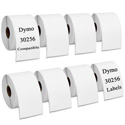 """RyhamPaper Dymo 30256 Compatible Shipping Labels 2 5 16 X 4"""" For Dymo Labelwriter 8 Rolls 2400 Labels"""