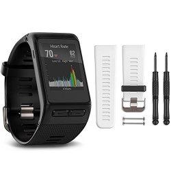 Garmin Vivoactive Hr Gps Smartwatch - Regular Fit White Band Bundle Includes Vivoactive Hr S