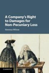 A Company& 39 S Right To Damages For Non-pecuniary Loss Paperback