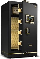 USA Wall Safes Cabinet Safes Drop Slot Safes Electronic Home Safe With Medium Home Office Password Safe 80CM Anti-theft Steel Safe Deposit Box Color : Bl