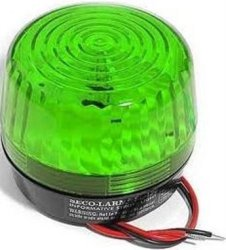 """SECO-LARM SL-126Q G Green Strobe Light For 6- TO12-VOLT Use For """"informative"""" General Signaling Requirements Incorrect Polarity Cannot Damage Circuit Ordraw Current Easy 2-WIRE Installation"""