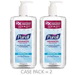 Purell Advanced Hand Sanitizer Refreshing Gel Clean Scent 1 Liter Pump Bottle Pack Of 2 - 3080-02-EC