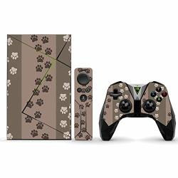 MightySkins Skin For Nvidia Shield Tv Pro - Paw Prints Protective Durable And Unique Vinyl Decal Wrap Cover Easy To Apply Remove