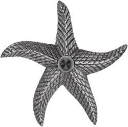 Waterwood Brass Starfish Doorbell In Pewter