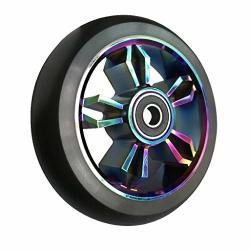 Aibiku 2020 Pro Stunt Scooter Wheels 100MM Replacement Wheels With ABEC-11 Bearing - 2PCS Colorful black