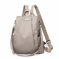 IFOMO Women Travel Backpack Travel Bag Anti-theft Oxford Cloth Backpack Khaki Shouldersize