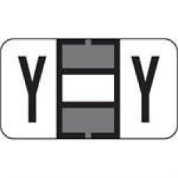 "Jeter Compatible 59702629 7200 Color Code Label Permanent Alpha""y"" 1 5 8"" X 15 16"" Gray Pack Of 500"