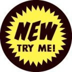 "LR2NEY - Retail""new Try Me "" 2"" Inch Label Price Stickers 250 Per Roll Round Circle Permanent Adhesive Fluorescent Yellow And Black"