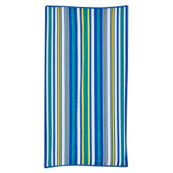 Mainstays Turq Green Textured Stripe Beach Towel