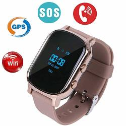 Changsha Hangang Technology Ltd Hangang Kids Smart Phone Watch Gps Kids Tracker With Touch Screen Sim Slot Smartwatch Phone Holiday Birthday Gifts For Girls Boys Gold