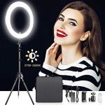 18 Inches Adjustable 2700-5500K Color Temperature Ring Light Samtian Dimmable Smd LED Ring Light Photography Video Lighting Kit